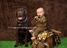 Duck Dynasty Toddler Photography with Chocolate Lab..vintage Easter Photography Toddler Boy....~My Lil' Hunter