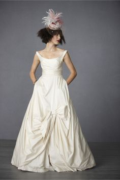 Sweeping Taffeta Ball Gown. I'm kinda addicted to her hat.