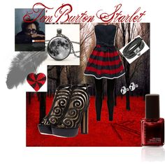 Tim Burton Starlet, created by tashabouvier on Polyvore    Oh no! Another addictive site that I didn't know about!!!!!