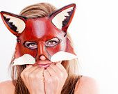 The cutest fox I've ever seen, the model in this picture just makes the mask look adorable.