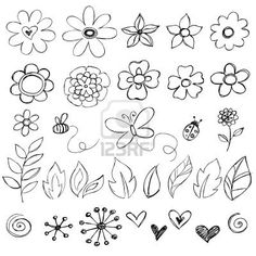 Sketchy Doodle Flower Vector Illustrations Stock Photo...plus lots more designs