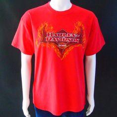 Harley Davidson Red T Shirt Treasure Coast Motorcycles 2006 Stuart Florida Sz L   Clothing, Shoes & Accessories, Men's Clothing, T-Shirts   eBay!