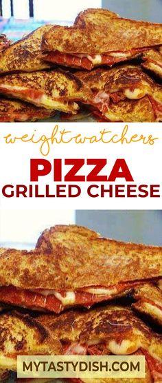 Pizza Grilled Cheese weight watchers freestyle smart points friendly #weightwatchers #smartpoints #skinnytaste #pizza