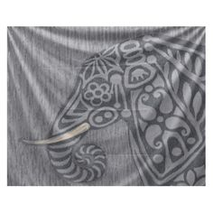E By Design Fall Cascades Inky Animal Wall Tapestry