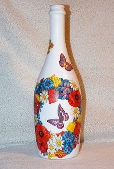 Darčeková fľaša Kvetinový venček