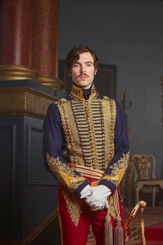 Tom Hughes play's the part of Prince Albert in ITV's new costume drama | Victoria. I love this outfit!