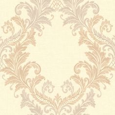 FS1181 Beige Royal Harlequin Scroll - Sofia - Beacon House Wallpaper