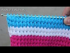 Tunisian crochet stitch video tutorial by Naztazia