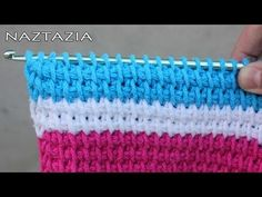 Tunisian crochet stitch video tutorial by Naztazia