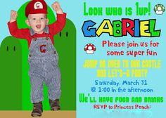 Super Mario Brother's Invitation