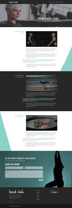Free Crossfit Inspired Layout Pack by Geno Quiroz Created with the Divi Wireframe UI Kit
