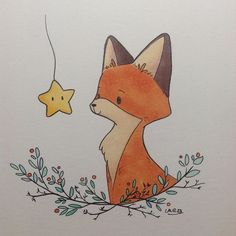 Just a little doodle to try another style for this character. Hum, I don't know yet which one I prefer. I also tried my new kuretake pen. I think they are amazing . #instaart #art #illustration #fox #redfox #animal #character #copic #kuretake #blackink #story #children
