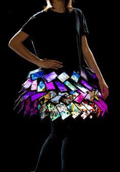 Fyodor Golan London Fashion Week AW14 smartphone skirt