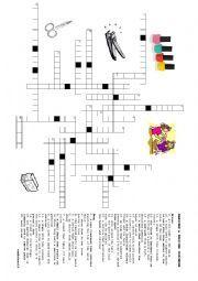 English worksheet: Manicure & Pedicure Vocabulary Crossword