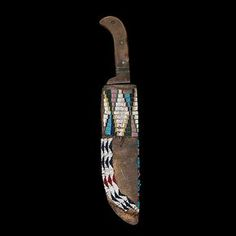 Cheyenne Beaded Hide Knife Sheath
