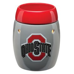 New Ohio State University Buckeye warmer now available! Buy online through Scentsy Consultant Becky Sattler. Ohio State Football, Ohio State University, Ohio State Buckeyes, Football Team, Candle Warmer, Ceramic Decor, Burning Candle, Scentsy, Stuff To Buy