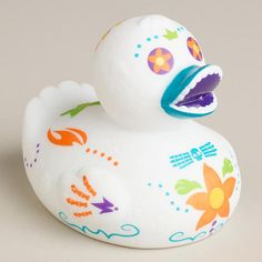 One of my favorite discoveries at WorldMarket.com: Day of the Dead Rubber Duck