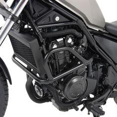 Defensa de motor de Hepco & Becker para su instalación en HONDA CMX 500 REBEL 2017-. Defensa en color negro. Protege una de las partes más esenciales de la moto, el motor.