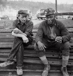 Montour no. 4 mine of the Pittsburgh Coal Company. Miners waiting to go underground. Pittsburgh vicinity, November 1942. John Collier.