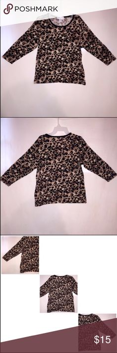 "Women's Blouse 🌸 Condition: New, does not have tags!  🌸 Size: Medium, measures being 24"" long, 20"" in the waist, and 22.5"" in sleeves measuring from the neck to the end of the sleeve.  🌸 Brand: Cathy Daniels 🌸 Color: Cheetah Design 🌸 Retail Price: $80 🌸 My Price: $15, offers are welcomed!  🌸 Bundle to save money! Cathy Daniels Tops Blouses"