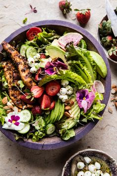 California Chicken, Avocado, and Goat Cheese Salad   halfbakedharvest.com @hbharvest via @hbharvest