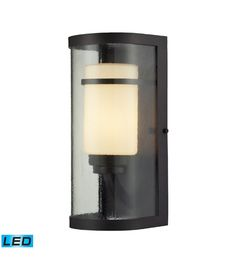 Caldwell Outdoor Sconce in Oiled Bronze Led Outdoor Wall Lights, Outdoor Light Fixtures, Modern Light Fixtures, Outdoor Wall Sconce, Outdoor Walls, Outdoor Lighting, Elk Lighting, Lighting Store, Landscape Lighting