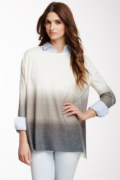 Elbow Patch Pullover Sweater by Go Couture on @HauteLook