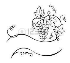 Feuille de vignes le fond de vigne logo vincent pinterest feuille de vigne vignes et - Feuille de vigne dessin ...