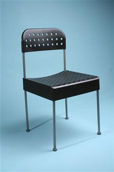 Chairs, Box. Designed by Enzo Mari for Driade