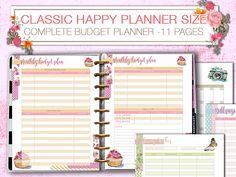 Happy Planner finance planner budget tracker Printable