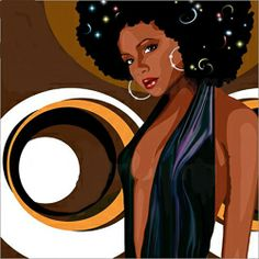 My Soul Sister series comprises a colourful combination of Blackmusic, Jazz and Retrochic and were used for CD Covers. All of my images can be seen on m. Black Girl Art, Black Women Art, Black Girl Magic, Art Girl, African Artwork, Black Art Pictures, Pretty Pictures, Neo Soul, Black Cartoon