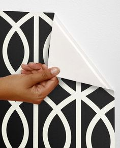 Removable self-adhesive modern vinyl material  Wallpaper wall sticker -  Rope circle pattern C020 by PatPrintbyAmy on Etsy