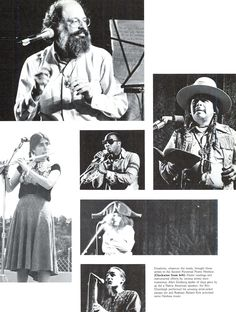 Images and performers from the second perennial poetic hoohaw at the UO 1977. From the 1977 Oregana (University of Oregon yearbook). www.CampusAttic.com