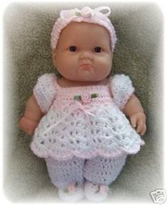 Cute baby doll clothes  Cuddle Up Romper for 8 Inch Berenguer pattern by Amy Carrico