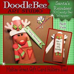 Santa's Reindeer Candy Bar Wrapper