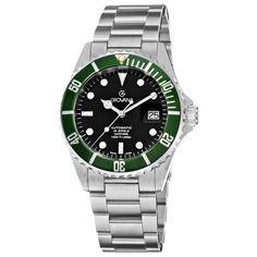 fd9ce2c84 Grovana Men's 1571.2135 Diver Diver Black Dial Blue Bezel Automatic Watch  Grovana. $460.00. Stainless