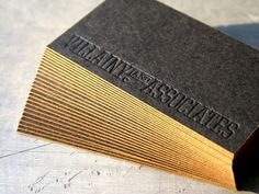 Simple letter pressed business cards - beautiful!