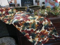 Fall table runner from mycustomtextiles.com