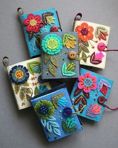 Papertrey Ink - Sewing Staples: Needle Book Die Collection (set of Papertreyink Felt Crafts, Fabric Crafts, Sewing Crafts, Sewing Projects, Sewing Kits, Needle Case, Needle Book, Needle Felting, Wool Embroidery