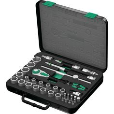 Wera 05003645001 8100 SA/SC 2 Zyklop Combination Ratchet Set, 1/2 inch Drive, Metric, 37 Piece: Amazon.co.uk: DIY & Tools