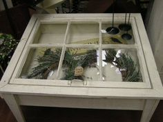 Fun DIY project...coffee table from an old window.