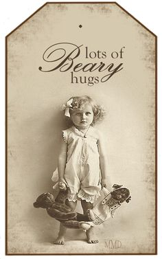 Milly Me® Teddy Bears: Free Vintage Tags: Lots of Beary Hugs Pub Vintage, Vintage Tags, Vintage Labels, Vintage Ephemera, Vintage Paper, Vintage Postcards, Vintage Prints, Vintage Teddy Bears, My Teddy Bear