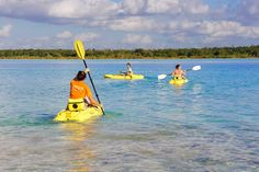 Get in touch with nature while your explore the peaceful Seven Color Lagoon then relax away from the crowds in the secluded and natural settings of the Bacalar Lagoon Resort. Cozumel Cruise, Costa Maya, Kayak Tours, Mexico Vacation, Blue Lagoon, Rotterdam, Kayaking, Swimming, Boat