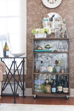 Finding Home Farm's Fall Home Tour: Bar Cart