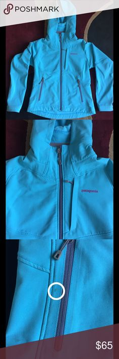 """GUC Patagonia Soft Shell Fleece Jacket Small GUC Patagonia Soft Shell Fleece Jacket Small Good used condition. Two small stains that are marked on photo. Overall still a great Jacket  -Chest 19"""" -Sleeve 23"""" -Length 25.5"""" Made in Vietnam  Comes from a smoke and pet free home  All offers will be considered Patagonia Jackets & Coats"""