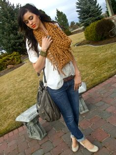 Love her scarf!! Fashion comes and goes, but style lasts forever. Find yours!