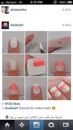 This simple design can be done with any colors. Regular one sided scotch tape works best. Make sure the base coat is completely dry before applying tape. Use a make up sponge for the gradient.