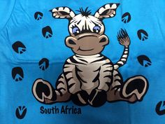 Kid's T-shirt with a zebra print - see the back as well