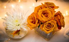 A goldfish wedding centerpiece. Genius. {Wallflower Photography}