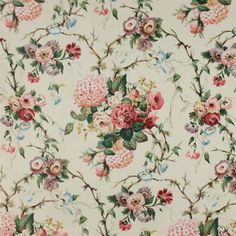 Amberley Fabric Colefax and Fowler Decoupage, Fabric Wallpaper, Of Wallpaper, Cottage Wallpaper, Paisley Wallpaper, Chintz Fabric, Chair Fabric, Victorian Wallpaper, Rose Cottage